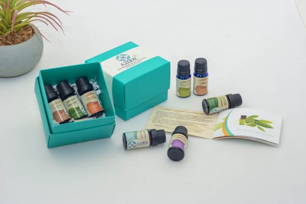 Pack 9 Essential Oils for Aromatherapy Azoor